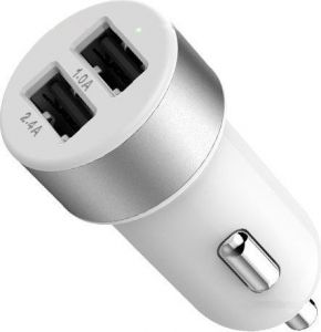 Автомобильное зарядное устройство Lab.C 582 Dual USB Car Charger A.L White Silver (3.4 A) (LABC-582-SV_N)