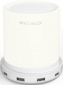 Сетевое зарядное устройство + LED лампа Macally с 4-мя USB портами White (LAMPCHARGE-EU)