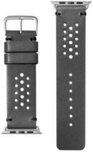 Кожаный ремешок для Apple Watch 42mm (Серия 1/2/3) / 44mm (Серия 4/5) LAUT HERITAGE Slate Grey (LAUT_AWL_HE_GY)