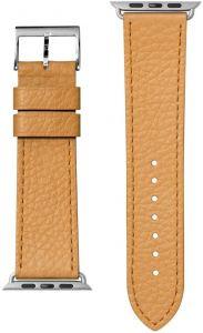 Кожаный ремешок для Apple Watch 42mm (Серия 1/2/3) / 44mm (Серия 4/5) LAUT MILANO Ochre (LAUT_AWL_ML_BR)