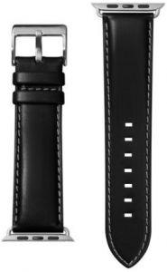 Кожаный ремешок для Apple Watch 42mm (Серия 1/2/3) / 44mm (Серия 4/5) LAUT OXFORD Noir (LAUT_AWL_OX_BK)