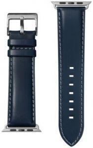 Кожаный ремешок для Apple Watch 42mm (Серия 1/2/3) / 44mm (Серия 4/5) LAUT OXFORD Indigo (LAUT_AWL_OX_BL)