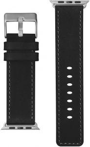 Кожаный ремешок для Apple Watch 42mm (Серия 1/2/3) / 44mm (Серия 4/5) LAUT SAFARI Onyx (LAUT_AWL_SA_BK)
