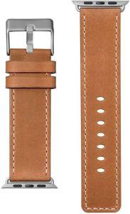 Кожаный ремешок для Apple Watch 42mm (Серия 1/2/3) / 44mm (Серия 4/5) LAUT SAFARI Tan (LAUT_AWL_SA_BR)