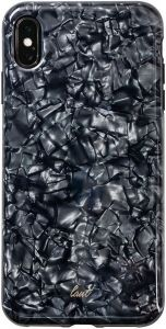 Чехол для iPhone XS MAX (6.5'') LAUT PEARL Black (LAUT_IP18-L_PL_BK)