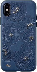 Чехол для iPhone XS/X (5.8'') LAUT FLORA Blue (LAUT_IP18-S_FL_BL)