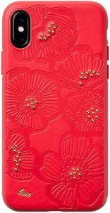 Чехол для iPhone XS/X (5.8'') LAUT FLORA Red (LAUT_IP18-S_FL_R)