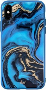 Чехол для iPhone XS/X (5.8'') LAUT MINERAL GLASS Blue (LAUT_IP18-S_MG_MBL)
