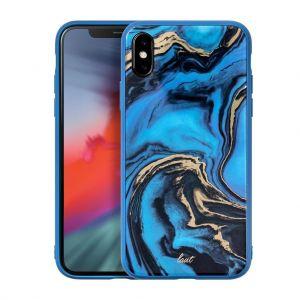 Чехол для iPhone XS/X (5.8'') LAUT MINERAL GLASS Blue (LAUT_IP18-S_MG_MBL)
