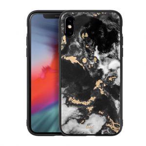 Чехол для iPhone XS/X (5.8'') LAUT MINERAL GLASS Black (LAUT_IP18-S_MG_MB)