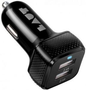 Автомобильное зарядное устройство LAUT POWER DASH 4.8 A Black (LAUT_PD02_BK)