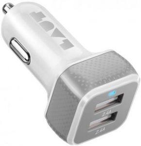 Автомобильное зарядное устройство LAUT POWER DASH 4.8 A White (LAUT_PD02_W)