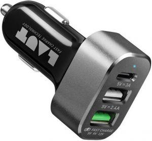 Автомобильное зарядное устройство LAUT POWER DASH 7.8 A Black (LAUT_PD05_BK)