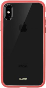 Чехол для iPhone XS/X (5.8'') LAUT ACCENTS TEMPERED GLASS Pink (LAUT_iP18-S_AC_P)