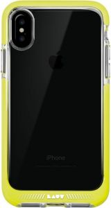 Чехол для iPhone X LAUT FLURO [IMPKT] Yellow (LAUT_iP8_FR_Y)