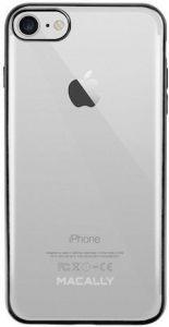 Чехол для iPhone 8 / 7 (4.7'') Macally LUXR Black (LUXRP7M-B)