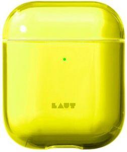 Чехол для зарядного кейса AirPods 2/1 LAUT Crystal-X Acid Yellow (L_AP_CX_Y)