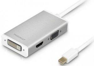 Переходник Macally Mini DisplayPort to 3-in-1 DVI/HDMI/VGA White (MD-3N1-4K)