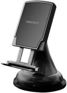 Автодержатель (до 7'') с установкой на лобовое стекло или торпедо Macally Black (MGRIPMAG)
