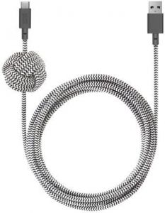 Кабель Native Union Night Cable USB-A to USB-C Zebra (3 m) (NCABLE-KV-AC-ZEB)