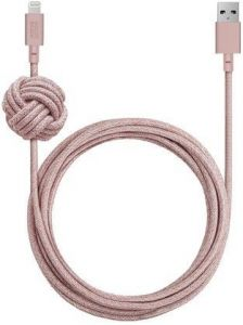 Кабель Native Union Night Cable Lightning Rose (3 m) (NCABLE-KV-L-ROSE)