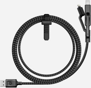 Кабель Nomad Universal Cable (3 in 1: Lightning, micro-USB, USB-C) Black (1.5 m)