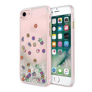 Чехол с плавающими блестками для iPhone 8 / 7 (4.7'') Rebecca Minkoff Glitterball Case - Emojis (RMIPH-013-EM)