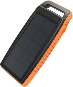 Внешний аккумулятор RAVPower Outdoor Solar Charger 15000mAh (IPX4 Splashproof, Dustproof, DC5V/2A Input) Black/Orange (RP-PB003)