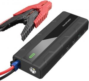 Внешний аккумулятор с автомобильным стартером RAVPower Car Jump Starter 1000A Peak Current Quick Charge 3.0 12V 14000mAh Black (RP-PB063)