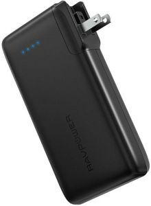Внешний аккумулятор RAVPower 10050mAh Portable Charger with AC Plug Black (RP-PB066)