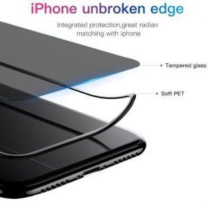 Защитное стекло (антишпион) для iPhone XS Max (6.5'') Baseus 0.3mm Rigid-Edge Anti-Spy Curved-Screen Glass Black (SGAPIPH65-ATG01)