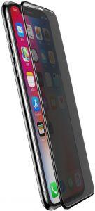 Защитное стекло (антишпион) для iPhone XS Max / 11 Pro Max (6.5'') Baseus 0.3mm Rigid-Edge Anti-Spy Curved-Screen Glass Black (SGAPIPH65-ATG01)