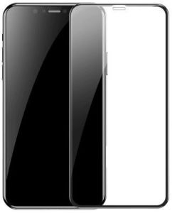 Защитное 3D-стекло для iPhone XS Max / 11 Pro Max (6.5'') Baseus 0.23mm Curved-Screen Glass Crack-Resistant Edges Black (SGAPIPH65-PE01)