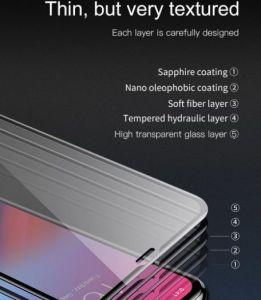 Защитное стекло для iPhone XS Max (6.5'') Baseus 0.2mm All-screen Arc-surface Tempered Glass Film Black (SGAPIPH65-TN01)