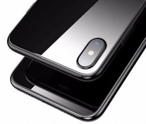 Защитное 3D-стекло на заднюю панель для iPhone X Baseus 0.3mm All-coverage Full-glass Back Tempered Glass Black (SGAPIPHX-BM01)