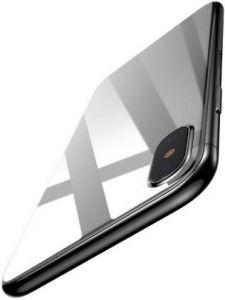 Защитное 3D-стекло на заднюю панель для iPhone X/XS Baseus 0.3mm Silk-screen Back Glass White (SGAPIPH8-BMA2)