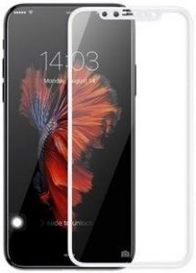 Защитное 3D-стекло для iPhone X Baseus 0.2mm Silk-screen Tempered Glass White (SGAPIPH8-ASL02)