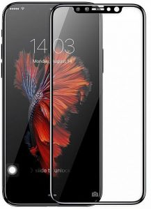 Защитное 3D-стекло для iPhone X Baseus 0.3mm Full-Screen 3D Edge Tempered Glass Film Black (SGAPIPHX-KE01)