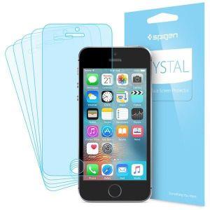 Набор защитных пленок на экран (5 шт.) для iPhone SE/5/5S Spigen Screen Protector Crystal (SGP-041FL20165)
