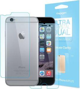 Набор защитных пленок на дисплей (2 шт.) и заднюю сторону (1 шт.) для iPhone 6 Plus / 6S Plus (5.5'') Spigen (SGP) Screen Protector Steinheil Dual Crystal (Front&Back) (SGP11207)