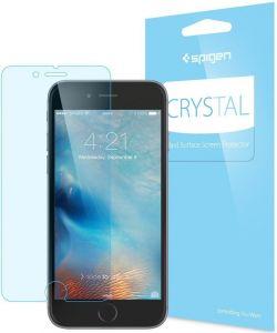 Набор (3 шт.) глянцевых защитных пленок на дисплей для iPhone 6/6S (4.7'') Spigen (SGP) Screen Protector Crystal (3 pcs of Front) (SGP11585)