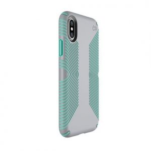 Чехол для iPhone X/XS Speck PRESIDIO GRIP DOLPHIN GREY/ALOE GREEN (SP-103131-6249)