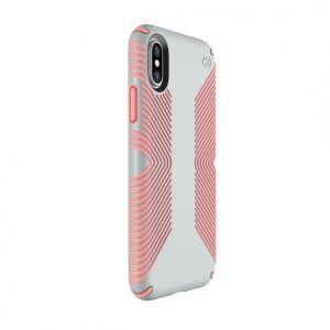 Чехол для iPhone X/XS Speck PRESIDIO GRIP DOVE GREY/TART PINK (SP-103131-6584)
