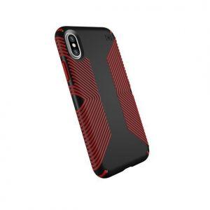 Чехол для iPhone X/XS Speck PRESIDIO GRIP BLACK/DARK POPPY RED (SP-103131-C305)