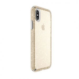 Чехол для iPhone X/XS Speck PRESIDIO CLEAR WITH GOLD GLITTER/CLEAR (SP-103132-5636)