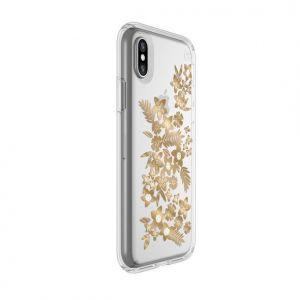 Чехол для iPhone X/XS Speck PRESIDIO SHIMMER FLORAL METALLIC GOLD (SP-103136-6677)
