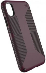 Чехол для iPhone X/XS Speck PRESIDIO GRIP FIG PURPLE/OCHRE BLACK (SP-109679-7279)