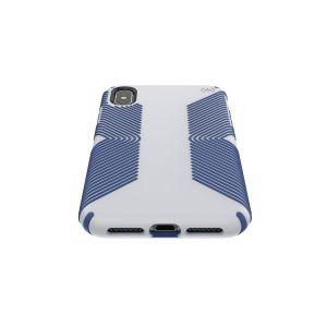 Чехол для iPhone XS MAX (6.5'') Speck PRESIDIO GRIP - MICROCHIP GREY/BALLPOINT BLUE (SP-117106-7569)