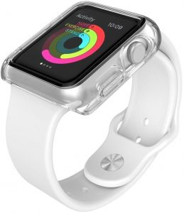 Пластиковый чехол для Apple Watch 38mm (Серия 1) Speck CandyShell Fit Clear/Clear (SP-75226-5085)