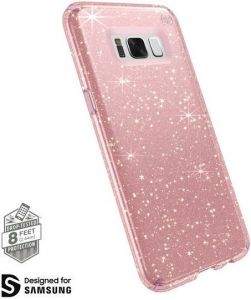 Чехол для Samsung Galaxy S8 Plus (G955) Speck Presidio Clear Glitter Rose Pink with Gold Glitter/Rose Pink (SP-90262-5978)